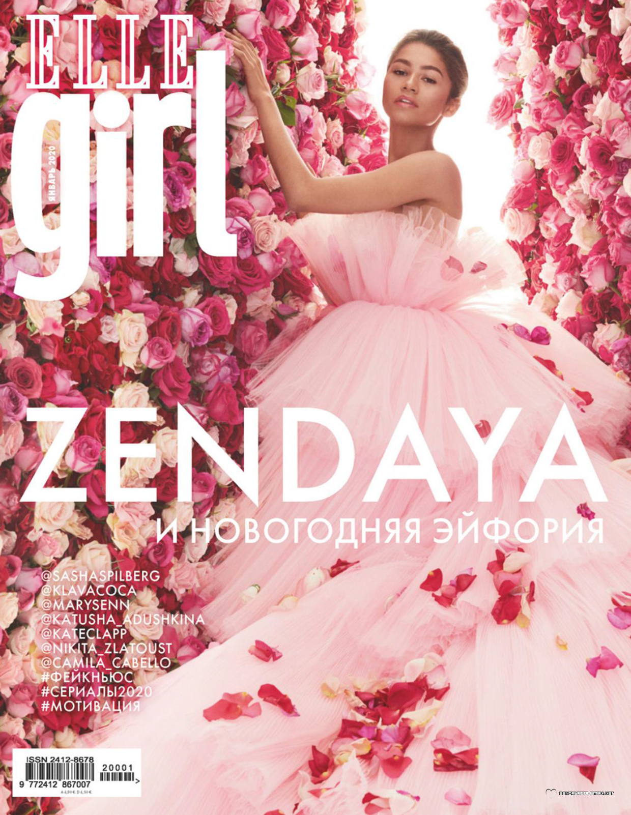 Press/Photos: 'Elle Girl' Russia Scans + Endorsements